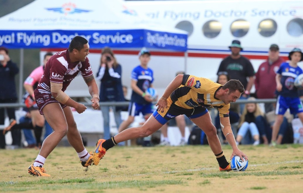 David Oakes - Intrust Super Cup Round 23 - Sunshine Coast Falcons V Burleigh Bears at Sullivan Oval, Stanthorpe. 1.40pm Sunday August 16, 2015.  PHOTO: SMP IMAGES.COM