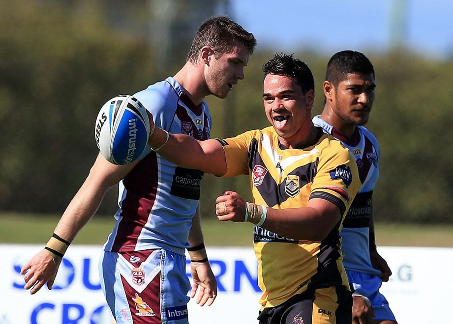 JAZ NAHU-MAIN - SUNSHINE COAST FALCONS - 9th August 2015 - Queensland Rugby League (QRL) Intrust Super Cup Round 22, played at Sunshine Coast Stadium between the Sunshine Coast Falcons v Central Capras.