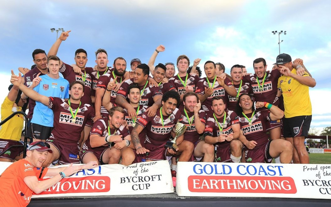 (BURLEIGH BEARS) Grand Final Winners the BURLEIGH BEARS - PHOTO: WENDY VAN DEN AKKER SMPIMAGES.COM - 13th September 2015 Gold Coast Rugby League Grand Final between the Tugun Seahawks v Burleigh Bears played at Pizzy park Miami, on the Queensland Gold Coast.
