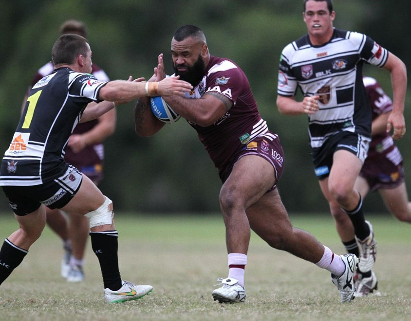 Josh Alioamai - Intrust Super Cup Round 12 - Tweed Heads Seagulls V Burleigh Bears at Piggabeen Sports Reserve, Tweed Heads. 3.00pm Sunday May 31, 2015.   PHOTO: Wendy Van Den Akker - SMP IMAGES.COM
