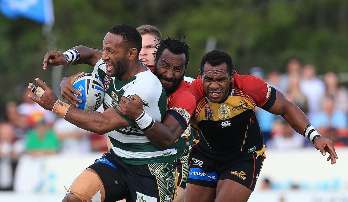 Rod Griffin - Intrust Super Cup Preliminary Final - PNG Hunters V Ipswich Jets at BMD Kougari Oval, Manly West. 3.00pm Sunday September 20, 2015.   PHOTO: Wendy Van den AKKER - SMP IMAGES.COM