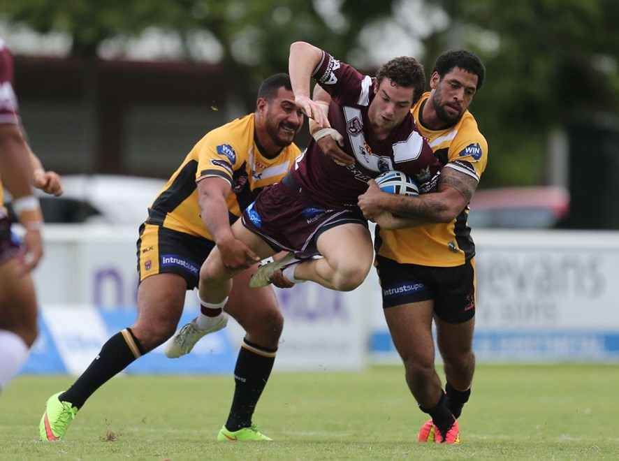 Tyler Chadburn - Intrust Super Cup Round 3 - Burleigh Bears V Sunshine Coast Falcons at Pizzey Park, Burleigh. 4.00pm Saturday March 21, 2015.  PHOTO: SMP IMAGES.COM