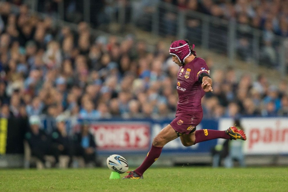 Johnathan Thurston - State of Origin Game I. NSW v QLD at ANZ Stadium, Sydney - Wednesday May 27, 2015.   PHOTO: Murray Wilkinson - SMP IMAGES.COM