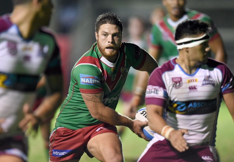 John Te Reo - Intrust Super Cup Round 3 - Wynnum Manly Seagulls V Mackay Cutters at BMD Kougari Oval, Manly West. 5.00pm Saturday March 21, 2015.  PHOTO: Scott Davis - SMP IMAGES.COM