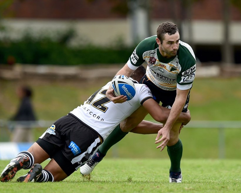 JOSH SEAGE - IPSWICH JETS - SOUTHS LOGAN MAGPIES V IPSWICH JETS - INTRUST SUPER CUP ROUND 04 -  PHOTO: SCOTT DAVIS - SMP IMAGES/QRL MEDIA - 27th March 2016. Action from round 04 of the Queensland Rugby League Intrust Super Cup, between the Souths Logan Magpies and the Ipswich Jets, being played at Davies Park, Brisbane.  This image is for Editorial Use Only. Any further use or individual sale of the image must be cleared by application to the Manager Sports Media Publishing (SMP Images). NO UN AUTHORISED COPYING : PHOTO SMP IMAGES.COM/QRL Media