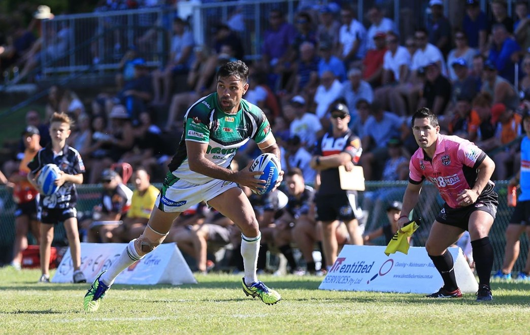 Hezron MURGHA (Townsville Blackhawks) - PHOTO: SMP IMAGES.COM / QRL MEDIA - 3rd April 2016 - Action from the Queensland Rugby League (QRL) Intrust Super Cup Round 05 clash between the Tweed Heads Seagulls v Townsville Blackhawks played at the Piggabeen Olympic Stadium, West Tweed Heads, NSW.