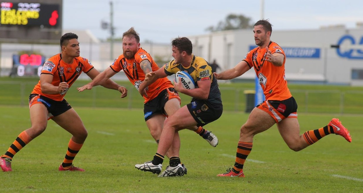 Joe STIMSON- SUNSHINE COAST FALCONS -  Action from the Intrust Super Cup Round 15 - 18th June 2016 Between EASTS TIGERS VS SUNSHINE COAST FALCONS. Played at Sunshine Coast Stadium, Kawana, Qld. Photo Wendy van den Akker SMP Images.