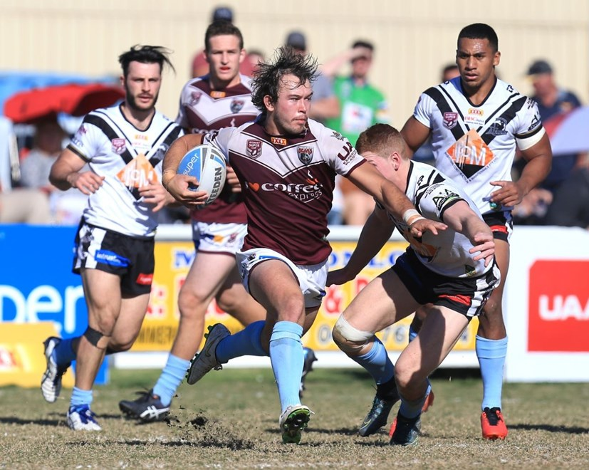 Kurtis ROWE (Burleigh Bears) PHOTO:- SMPIMAGES.COM - 28th August 2016 - Action from the Round 25 Queensland Rugby League (QRL) Intrust Super Cup clash between the Burleigh Bears v South Logan Magpies played at Pizzy Park, Miami on the Gold Coast.
