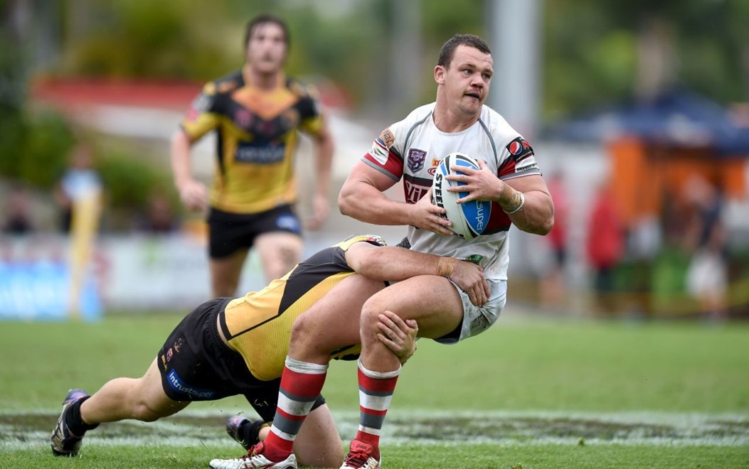 SAM ANDERSON - REDCLIFFE DOLPHINS - REDCLIFFE DOLPHINS V SUNSHINE COAST FALCONS - INTRUST SUPER CUP -  PHOTO: SCOTT DAVIS - SMP IMAGES/QRL MEDIA - 18th September 2016. Action from week 3 of the Queensland Rugby League Intrust Super Cup Finals, between the Redcliffe Dolphins and the Sunshine Coast Falcons, being played at Dolphin Oval, Redcliffe.    This image is for Editorial Use Only. Any further use or individual sale of the image must be cleared by application to the Manager Sports Media Publishing (SMP Images). NO UN AUTHORISED COPYING : PHOTO SMP IMAGES.COM/QRL Media