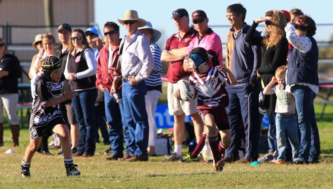 QRL COUNTRY WEEK-  Action from the Intrust Super Cup Round 20 - 23RD July 2016 Kids in Action. Played at Show Grounds, Charleville , Qld. Photo Wendy van den Akker SMP Images.