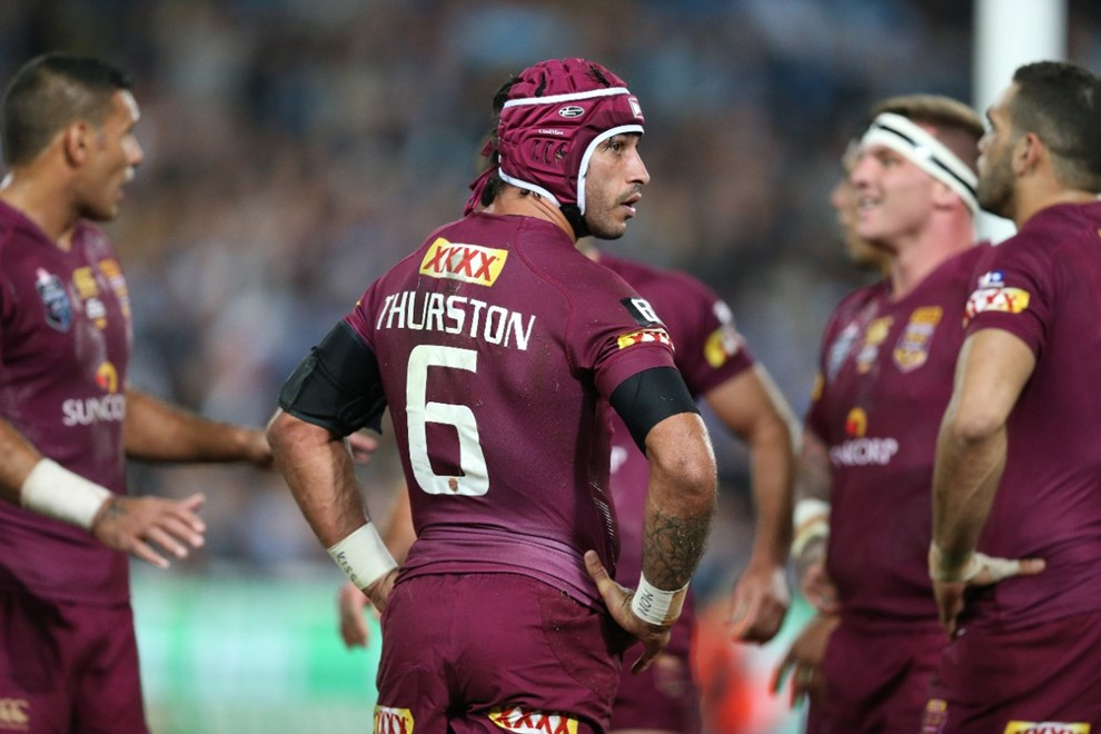 QLD dejected  :Digital Image Grant Trouville © NRLphotos  : 2015 State of Origin Game 1 - NSW v QLD at ANZ Stadium