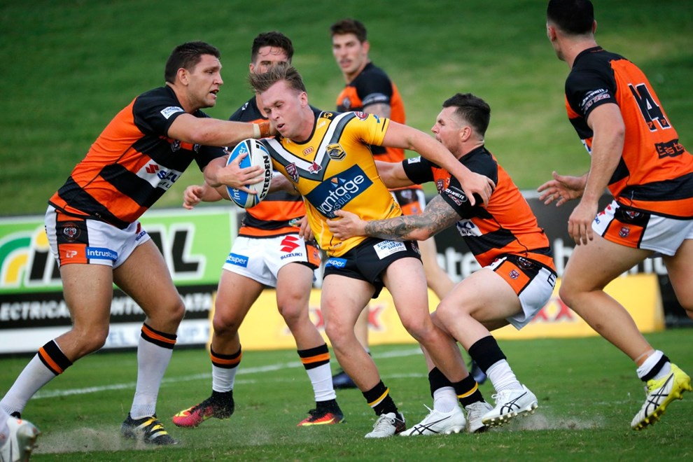 JAKE TURPIN - SUNSHINE COAST FALCONS - 4th March 2017 - Action from Round 1 of the Queensland Rugby League (QRL) Intrust Super Cup between SUNSHINE COAST FALCONS v EASTS TIGERS played at Sunshine Coast Stadium