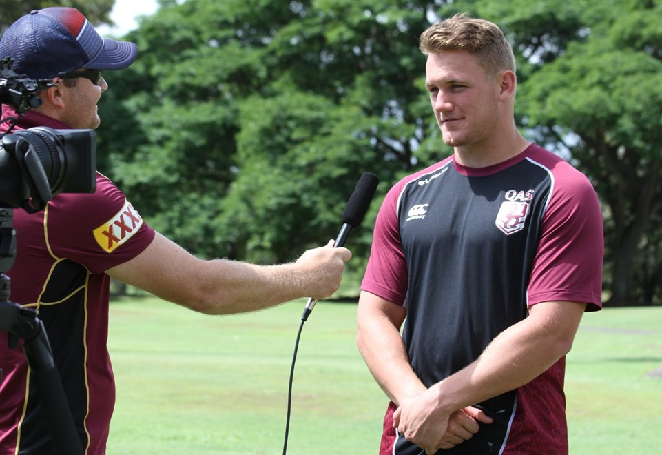 Coen Hess speaks to QRL Media. Photo: QRL Media