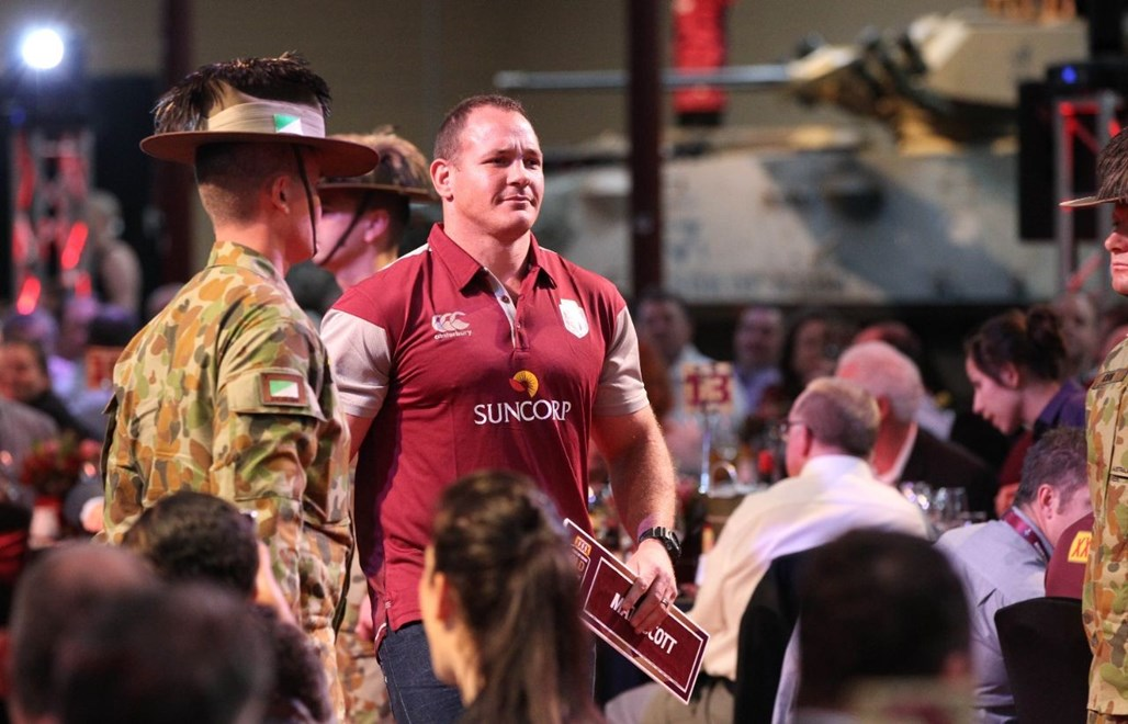 Matt Scott : Digital Image Charles Knight © NRLphotos. NRL Rugby League, State of Origin I team announcement, Brisbane, May 19th 2015.