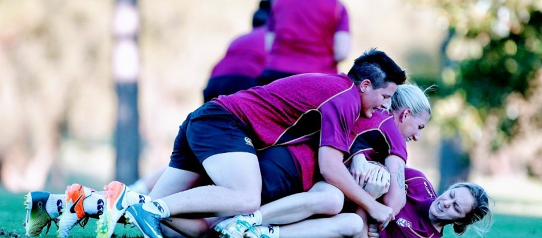 Women hit training paddock