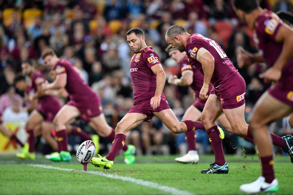 Kick-off! - State of Origin Game I: Queensland V New South Wales at Suncorp Stadium, Brisbane. 8.05pm Wednesday May 31, 2017.  Photo: © NRL Photos